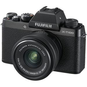 FX-T100LKB 富士フイルム ミラーレス一眼カメラ「FUJIFILM X-T100」レンズキット(ブラック)