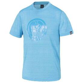 CBE281322-2200-O コンバース メンズ BACKCOURT EDITION プリントTシャツ(裾ラウンド)(サックス・サイズ:O) CONVERSE