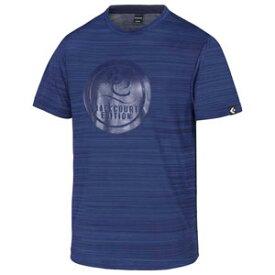 CBE281322-2900-O コンバース メンズ BACKCOURT EDITION プリントTシャツ(裾ラウンド)(ネイビー・サイズ:O) CONVERSE