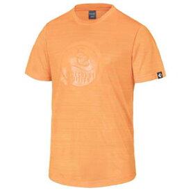 CBE281322-5600-O コンバース メンズ BACKCOURT EDITION プリントTシャツ(裾ラウンド)(オレンジ・サイズ:O) CONVERSE
