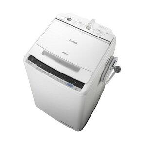 (標準設置料込)BW-V80C-W 日立 8.0kg 全自動洗濯機 ホワイト HITACHI ビートウォッシュ