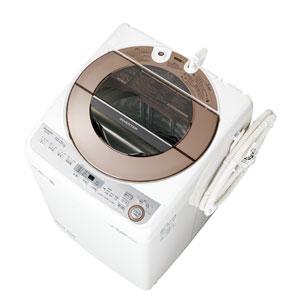 (標準設置料込)ES-GV10C-T シャープ 10.0kg 全自動洗濯機 ブラウン系 SHARP