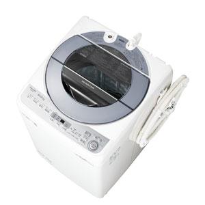 (標準設置料込)ES-GV8C-S シャープ 8.0kg 全自動洗濯機 シルバー系 SHARP