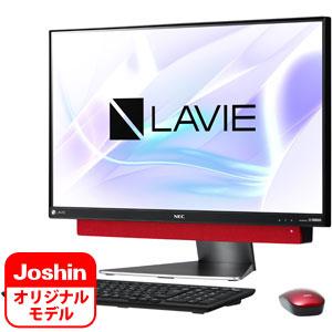 PC-DA770KAR-J NEC 23.8型 デスクトップパソコン 【Joshin オリジナル】LAVIE Desk All-in-one DA770/KAR-J メタルレッド (Core i5/メモリ 8GB/HDD 3TB/Office H&B 2016)