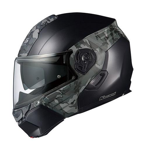KAZAMI CAMO FBKGRY XL OGKカブト システムヘルメット(フラットブラックグレー XL) KAZAMI CAMO