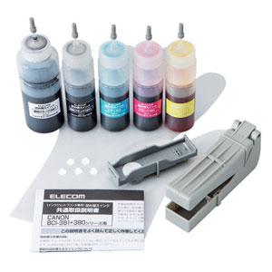 THC-381380SET4 エレコム キヤノン用詰め替えインク(4色セット)