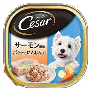 シーザー サーモン風味 ポテトとにんじん入り 100g マースジャパンリミテッド CE36N サ-モンポテト