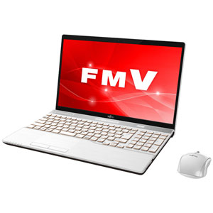 FMVA77C2W 富士通 15.6型ノートパソコン FMV LIFEBOOK AH77/C2 プレミアムホワイト [Core i7/メモリ 8GB/SSD 128GB+HDD 1TB/Office H&B 2016]※2018年夏モデル