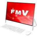 FMVF52C2W 富士通 23.8型 デスクトップパソコン FMV ESPRIMO FH52/C2 ホワイト [Celeron/メモリ 4GB/HDD 1TB/Office …