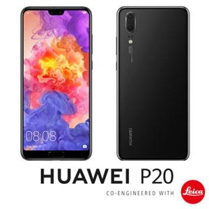 EML-L29-BK HUAWEI HUAWEI P20 ブラック 5.8インチ SIMフリースマートフォン[メモリ 4GB/ストレージ 128GB] [EMLL29BKP20]【返品種別B】