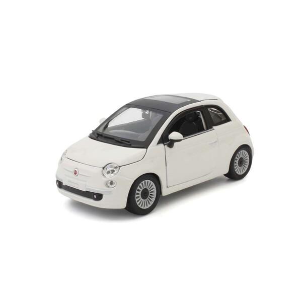 1/24 フィアット 500 2007 (ホワイト)【BUR22106W】 ブラゴ