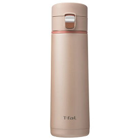 K23425 ティファール(T-FAL) ステンレスボトル 0.43L シャンパン クリーンマグ ワンプッシュタイプ [K23425]