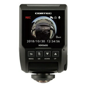 HDR360G コムテック GPS+360°カメラ搭載 高性能 ドライブレコーダー COMTEC