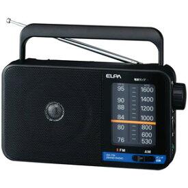 ER-H100 ELPA ワイドFM/AM ポータブルラジオ