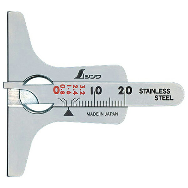 19300 シンワ測定 タイヤ溝測定ゲージ