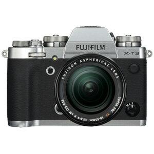 FX-T3LK-S 富士フイルム ミラーレス一眼カメラ「FUJIFILM X-T3」XF18-55mmF2.8-4 R LM OISレンズキット(シルバー)