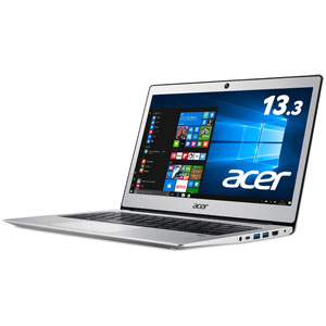 SF113-31-F14P エイサー 13.3型 ノートパソコン Swift 1 ピュアシルバー (Celeron/メモリ 4GB/ストレージ 64GB/WPS Office)