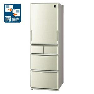 (標準設置料込)SJ-W411E-N シャープ 412L 5ドア冷蔵庫(ゴールド系) SHARP プラズマクラスター冷蔵庫 どっちもドア