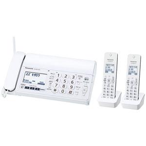 KX-PZ210DW-W パナソニック デジタルコードレス普通紙FAX(子機2台付き) ホワイト Panasonic おたっくす