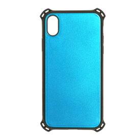 4437IP865HB ラスタバナナ iPhone XS Max用 ハイブリッド TPU+トライタンハードケース 耐衝撃吸収 ブルー