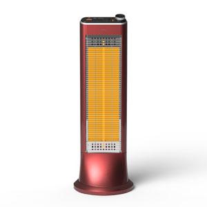 US-CR900L-R ユーイング 電気ストーブ【カーボンヒーター】(ざくろレッド) 【暖房器具】U・ING