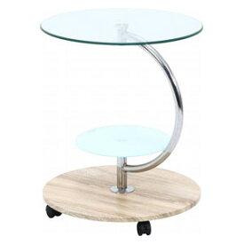 96229 不二貿易 ガラスラウンドテーブル マーブル(ナチュラル) ROMA-2
