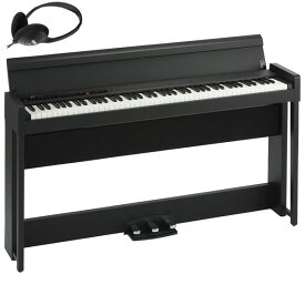 C1-AIR-BK コルグ 電子ピアノ(ブラック)【ヘッドホン付き】 KORG C1 Air C1AIR