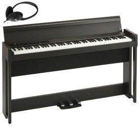 C1-AIR-BR コルグ 電子ピアノ(ブラウン)【ヘッドホン付き】 KORG C1 Air C1AIR