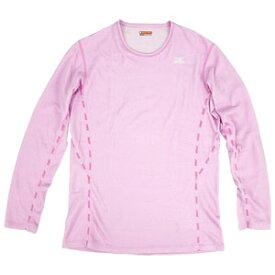 A2JA570964L ミズノ レディース ミドルウエイト・クルーネック長袖シャツ(ピンク・Lサイズ) mizuno ブレスサーモアンダーウエア