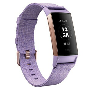 FB410RGLV-CJK フィットビット ウェアラブル活動量計(Lavender Woven) L/Sサイズ Fitbit Charge3 Special Edition [FB410RGLVCJK]【返品種別A】