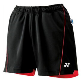 YO 25022 007 S ヨネックス ウィメンズニットショートパンツ(ブラック・サイズ:S) YONEX テニス・バドミントン ウェア(レディース)
