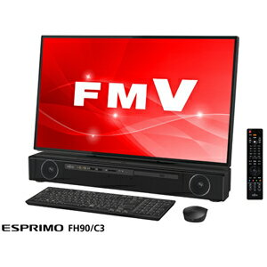 FMVF90C3B 富士通 27型 デスクトップパソコン FMV ESPRIMO FH90/C3 ブラック (Core i7/メモリ 8GB/HDD 3TB/Office H&B 2016)