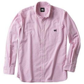 CCC RA47582 63 XL カンタベリー メンズ 長袖シャツ(ピンク・サイズ:XL) CANTERBURY ロングスリーブ ストレッチ ギンガムチェック シャツ(メンズ)