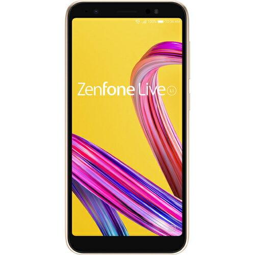 ZA550KL-GD32 エイスース ASUS ZenFone Live L1 シマ—ゴールド [5.5インチ/メモリ 2GB/ストレージ 32GB]
