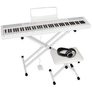 PERFORMER/WH 4テンSET アルテシア 電子ピアノ【椅子&ヘッドホン&キーボードスタンド付き】(ホワイト) Artesia