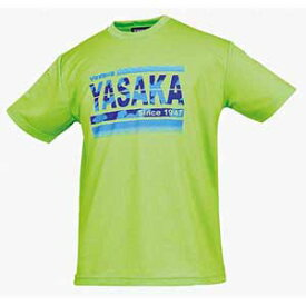 YSK-Y850-57-L ヤサカ 卓球ウェア 男女兼用 カモグラTシャツ(ライム・L) YaSaKa