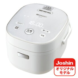 KS-JC5-W シャープ ジャー炊飯器 (3合炊き) ホワイト SHARP KS-CF05AのJoshinオリジナルモデル [KSJC5W]