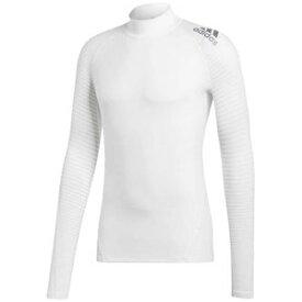 AJ-EMD49-CZ9135-J/L アディダス アルファスキン ATHLETE クライマウォーム ロングスリーブシャツ(ホワイト・サイズ:L) adidas メンズ ジム・トレーニング
