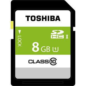 SDBR48N08G 東芝 SDHCメモリーカード 8GB Class10 UHS-I