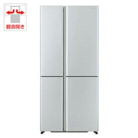 (標準設置料込)AQR-TZ51H-S アクア 512L 4ドア冷蔵庫(サテンシルバー) AQUA TZシリーズ