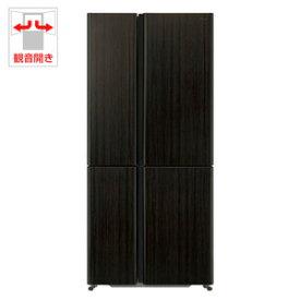 (標準設置料込)AQR-TZ51H-T アクア 512L 4ドア冷蔵庫(ダークウッドブラウン) AQUA TZシリーズ