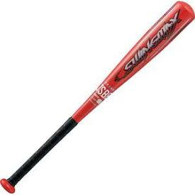 Z-BAT75918-6400 ゼット ジュニア軟式野球用金属バット(レッド・68cm) ZETT スイングマックス