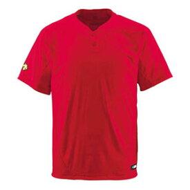 DS-DB201-RED-XA デサント ベースボールシャツ(RED・サイズ:XA) DESCENTE ベースボールシャツ(2ボタン)