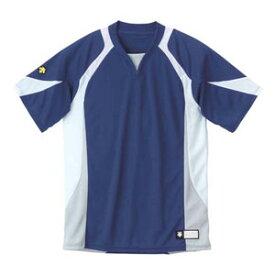 DS-DB113-NVWH-O デサント ベースボールシャツ(NVWH・サイズ:O) DESCENTE BASEBALL SHIRT プロモデル(レギュラーシルエット)
