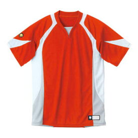 DS-DB113-RDWH-XA デサント ベースボールシャツ(RDWH・サイズ:XA) DESCENTE BASEBALL SHIRT プロモデル(レギュラーシルエット)