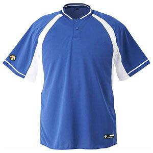 DS-DB103B-RYSW-O デサント ベースボールシャツ(RYSW・サイズ:O) DESCENTE 2ボタンベースボールシャツ(レギュラーシルエット)