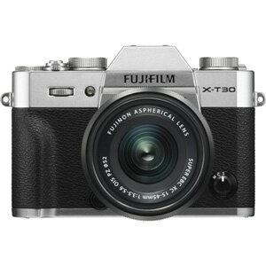 FX-T30LK-1545-S 富士フイルム ミラーレス一眼カメラ「FUJIFILM X-T30」XC15-45mmレンズキット(シルバー)
