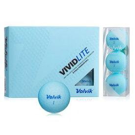 VOL-VIVLITEBL ボルビック ゴルフボール ビビッド ライト(シャーベットブルー) 1ダース 12個入り VOLVIK VIVID LITE