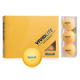 VOL-VIVLITEOR ボルビック ゴルフボール ビビッド ライト(シャーベットオレンジ) 1ダース 12個入り VOLVIK VIVID LITE