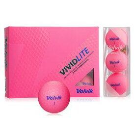 VOL-VIVLITEPK ボルビック ゴルフボール ビビッド ライト(シャーベットピンク) 1ダース 12個入り VOLVIK VIVID LITE